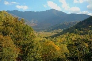 scenic views of the smoky mountains