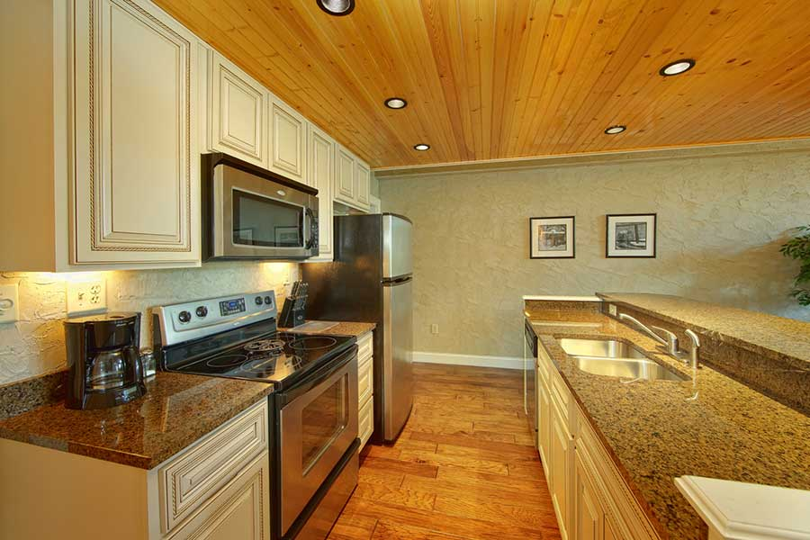 The beautiful kitchen in a Pigeon Forge condo.