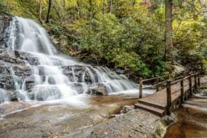 laurel falls hike in gsmnp